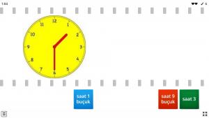 1. sınıflar saatler oyunu