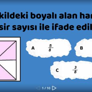 matematik kesirler eğlenceli oyun