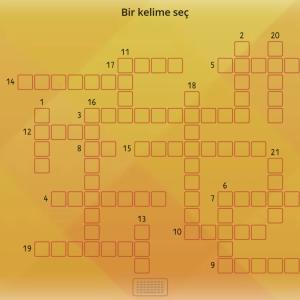 Türkçe için kelime bilgisi oyunu