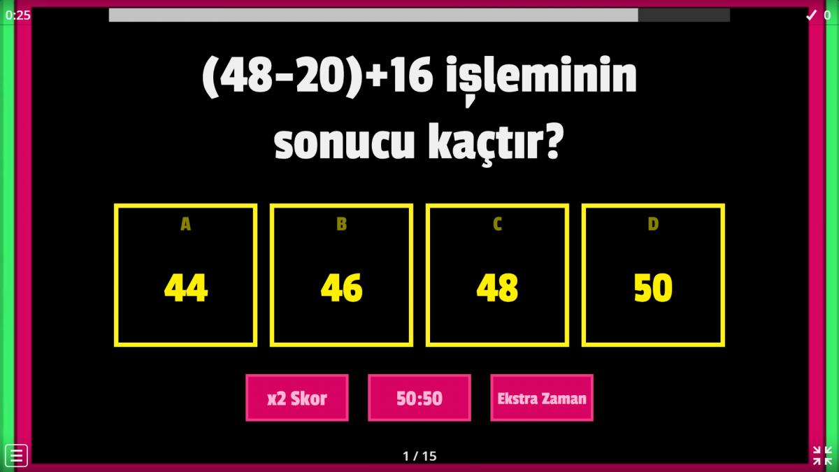 5.Sınıf-matematik-parantezli işlemler konusu ile ilgili oyun oyna