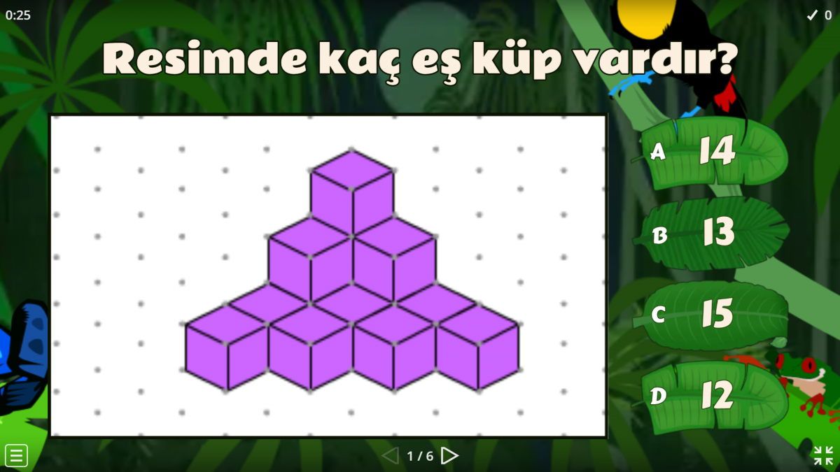 4. Sınıf geometrik şekiller konusu ile ilgili eğitici oyun oynayalım.